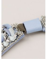 Barbara Bui - Blue Crystal Embellished Necklace - Lyst