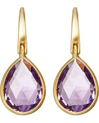 Astley Clarke | Purple Stilla 18ct Yellow-gold And Amethyst Drop Earrings | Lyst