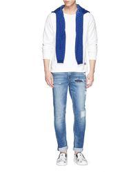 Scotch & Soda - White Bird Embroidery Sweatshirt for Men - Lyst