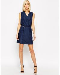 Vero Moda | Natural D-ring Belted Wrap Dress | Lyst