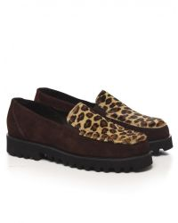 Jules B - Multicolor Womens Leopard Crepe Soled Loafers - Lyst