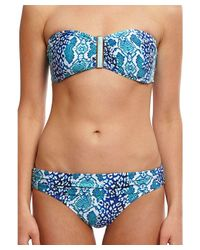 La Blanca - Blue Serpentina Shirr Band Hipster - Lyst