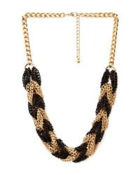 Forever 21 | Metallic Braided Chain Necklace | Lyst