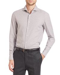 Eidos | Gray Marcus Plaid Sportshirt for Men | Lyst