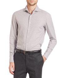 Eidos - Gray Marcus Plaid Sportshirt for Men - Lyst