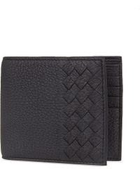 Bottega Veneta | Blue Intrecciato Leather Billfold Wallet for Men | Lyst