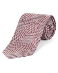 Jaeger | Red Glen Check Tie for Men | Lyst