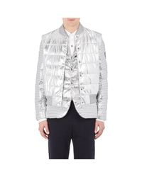 Moncler Gamme Bleu - Metallic Quilted Down Vest for Men - Lyst