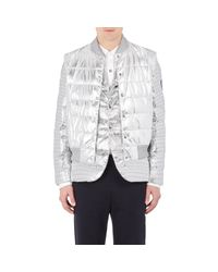 Moncler Gamme Bleu | Metallic Quilted Down Vest for Men | Lyst