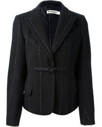 Jil Sander - Black Chalk Stripe Skirt Suit - Lyst