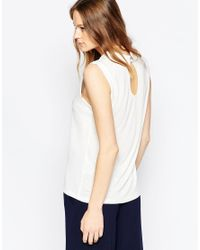 SELECTED | White Tira Sleeveless T-shirt | Lyst