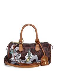 Moschino - Brown Looney Tunes Textured Faux Leather Duffel Bag - Lyst