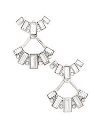 kate spade new york - White 'clink Of Ice' Ear Jackets - Lyst