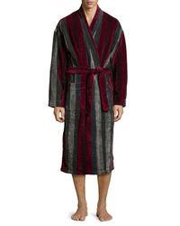 Ike Behar | Purple Terry Cloth Striped Robe for Men | Lyst