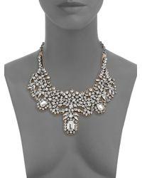 Valentino - Metallic Glamorous Crystal Satin Bib Necklace - Lyst