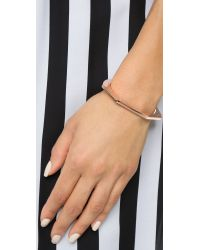 Giles & Brother | Pink Skinny Hex Cuff Bracelet - Rose Gold | Lyst