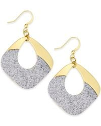 Style & Co. | Metallic Glitter Oblong Chandelier Earrings | Lyst