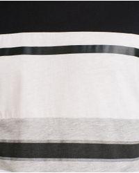Zara | Black Striped T-shirt for Men | Lyst