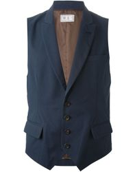 Brunello Cucinelli | Blue Shawl Lapel Waistcoat for Men | Lyst