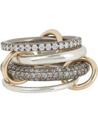 Spinelli Kilcollin - Metallic Vega Sg Pave Ring - Lyst