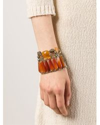 Ziio - Brown Murano Glass Beaded Bracelet - Lyst