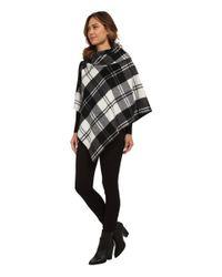 Lauren by Ralph Lauren - Black Oversized Check Bridle Buckle Poncho - Lyst