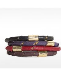 Linea Pelle | Metallic Leather Wrapped Bracelet | Lyst