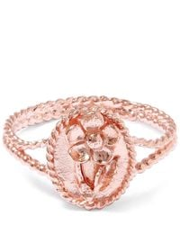Alex Monroe | Pink Rose Gold Small Wild Strawberry Flower Ring | Lyst