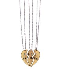 Pixie Market - Metallic Best Bitches Necklaces - Lyst