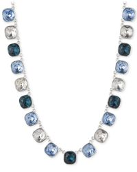 Anne Klein - Blue Stone All-Around Collar Necklace - Lyst