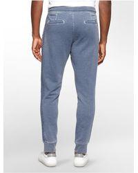 Calvin Klein - Blue Jeans Slim Burnout Sweatpants for Men - Lyst