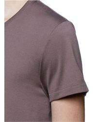 Acne Studios - Brown 'standard' Cotton Jersey T-shirt for Men - Lyst