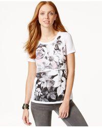 DKNY | White Garden-graphic Short-sleeve T-shirt | Lyst