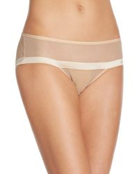 DKNY | Natural 'foundations' Sheer Hipster Briefs | Lyst