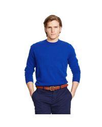 Ralph Lauren - Purple Cashmere Crewneck Sweater for Men - Lyst