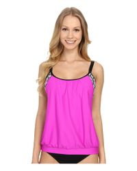 Next By Athena - Pink Weekend Warrior Double Upsoft Cup Tankini - Lyst