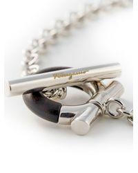 Ferragamo - Metallic Gancio Chain Bracelet - Lyst