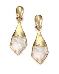 Alexis Bittar | Metallic Miss Havisham Liquid Crystal Jagged Broken Glass Clip-on Drop Earrings | Lyst