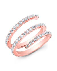 Anne Sisteron - Pink 14kt Rose Gold Diamond Spring Ring - Lyst