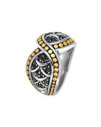 John Hardy - Metallic Naga Crossover Black Sapphire Ring - Lyst