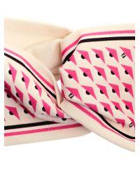 Fendi - White Eyeprint Cotton Headband - Lyst