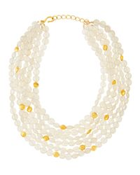 Dina Mackney | White Pearlescent Moonstone Multi-strand Necklace | Lyst