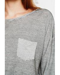 BDG | Gray Slouchy Stripe Top  | Lyst