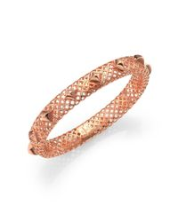 Gucci | Pink Diamantissima 18k Rose Gold Studded Bangle Bracelet | Lyst
