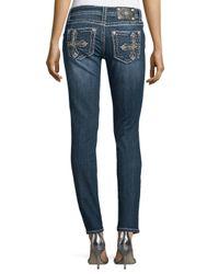 Miss Me - Blue Signature Skinny Jeans - Lyst