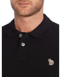 Paul Smith | Black Zebra Long Sleeve Logo Polo for Men | Lyst