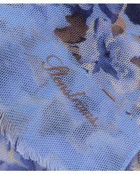 Stenstroms - Blue Floral Linen Scarf - Lyst