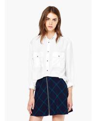 Mango | White Modal Shirt | Lyst