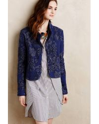 Knitted & Knotted - Blue Nightshade Jacquard Jacket - Lyst