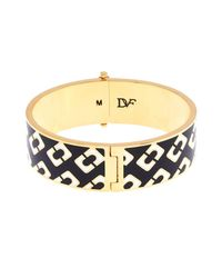 Diane von Furstenberg - Metallic Chain Link Hinged Bangle - Lyst